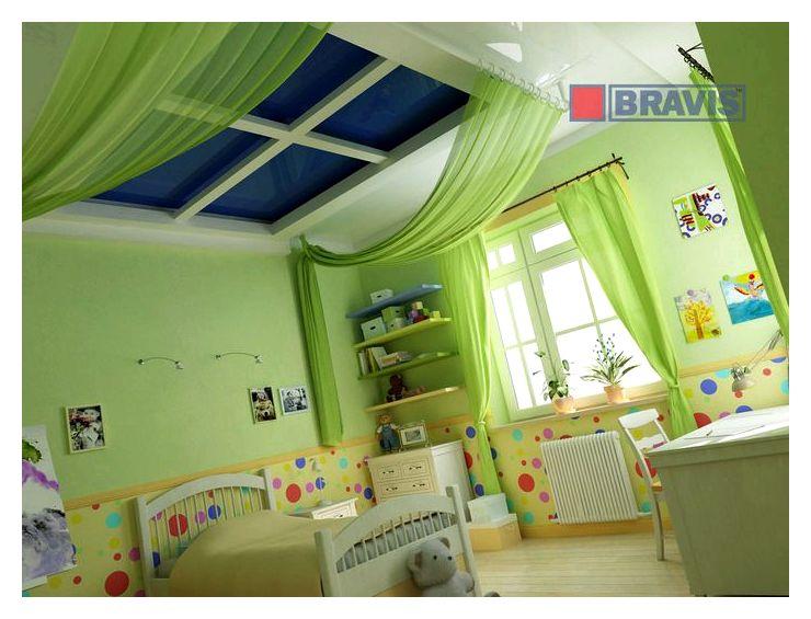 Потолок в детской комнате, фото, видео