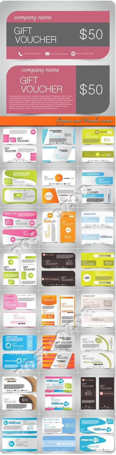 Coupon and Voucher vector