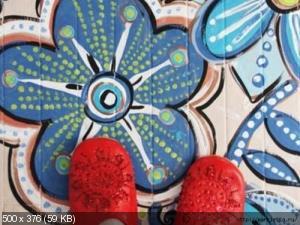 Ручная роспись деревянного пола. Идеи 1c2ac2006f106a9715f45cefb4762324